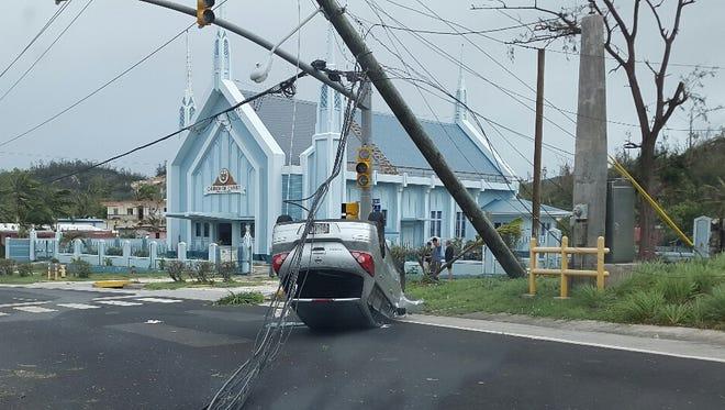 Typhoon Soudelor damage in Saipan, photographed Monday, Aug. 3.