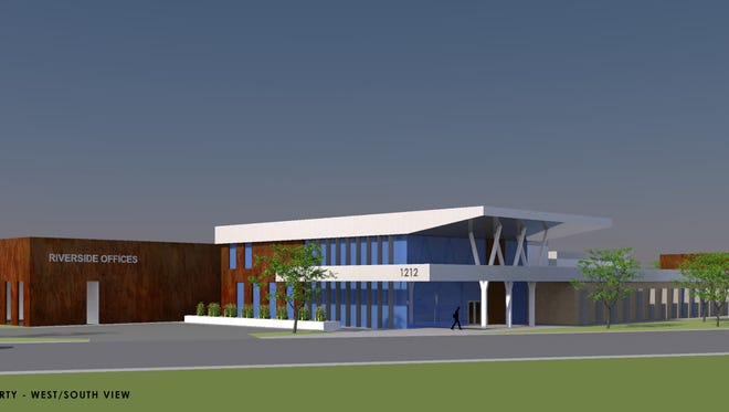 An artist's rendering of what 1212 Riverside Ave. might look like as it undergoes renovations.