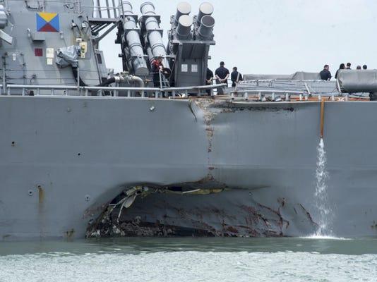 Congress Navy Ship Collisions