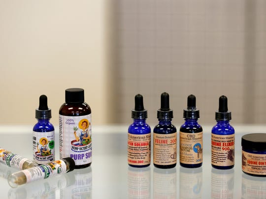 CBD Boutique sells several different types of CBD products at their store on West Kearney Street.