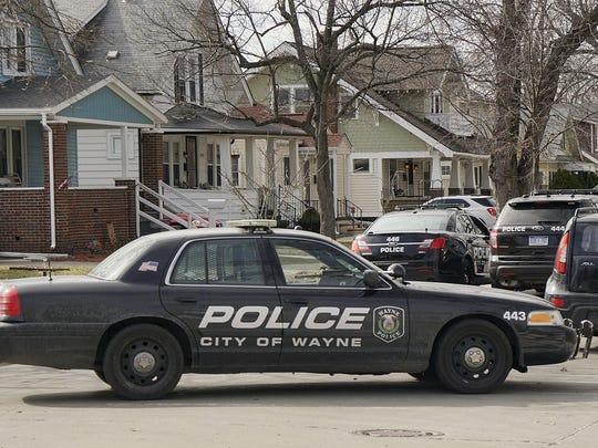 Wayne Police blocked traffic at both ends of the block