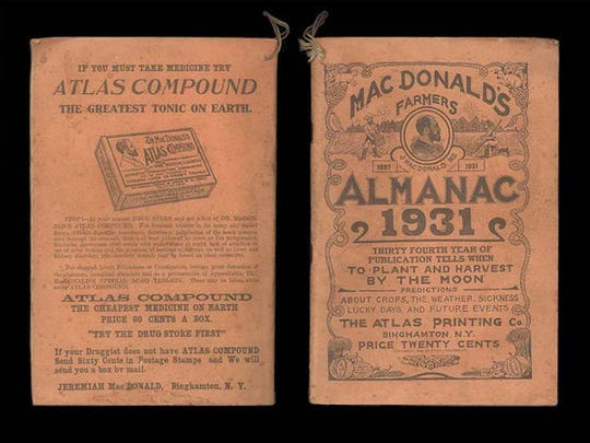 The Dr. MacDonalds Atlas Compound yearly almana, in 1931.