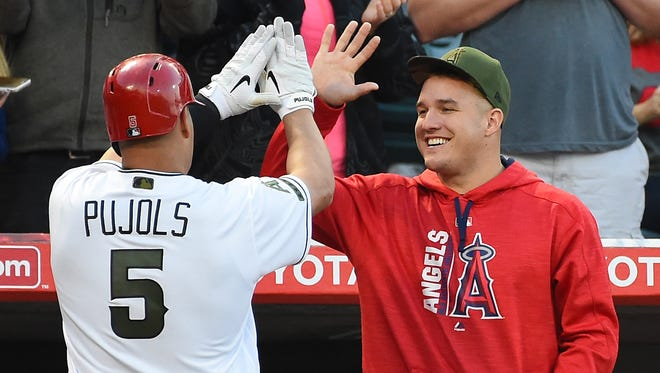 Although he's going to miss 6-8 weeks with a torn ligament in his thumb, Mike Trout's presence is still being felt.