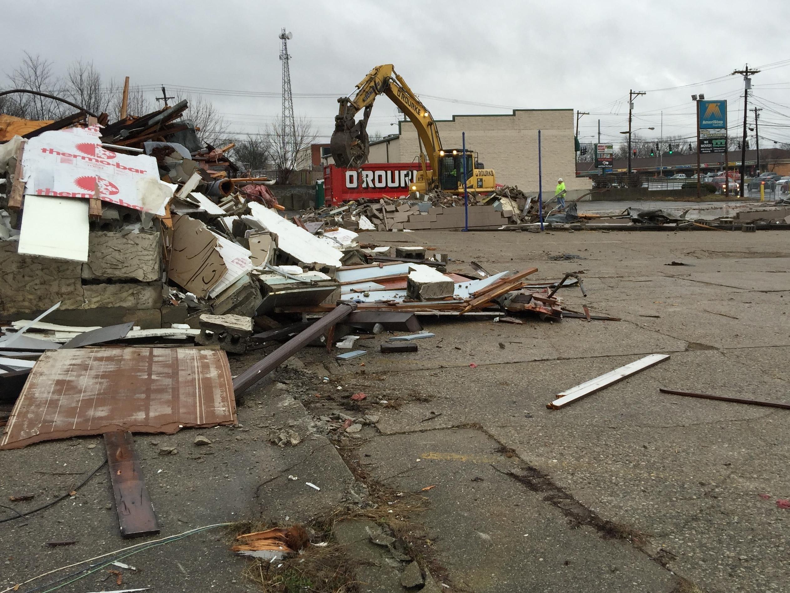 demolition makes way for erlanger cvs