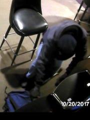 Suspect in burglary and vandalism at Big Apple Pub