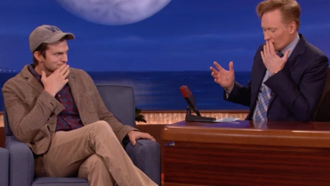Ashton Kutcher chats with Conan O'Brien.