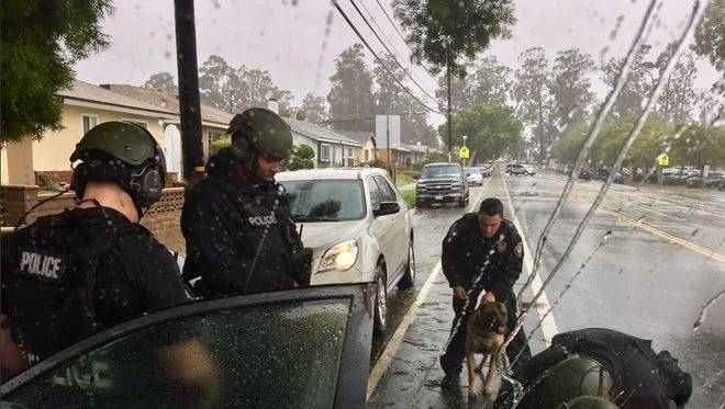 SWAT and K-9 officers arrested a wanted man Friday in Oxnard, officials said.