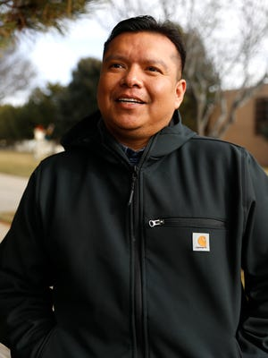 Filmmaker Dwayne Joe stands for a portrait on Dec. 24 outside the Farmington Civic Center after graduating from the Institute of American Indian Arts in Santa Fe and completing work on his documentary film 'Big Sister Rug.'