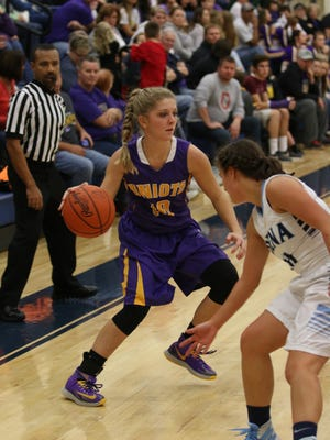 Unioto's Summer Sigman dribbles in a contest against Adena earlier this season.