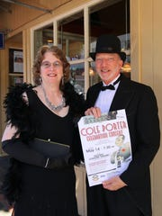 """Attendees are asked to wear their """"Great Gatsby""""-style finery to the Cole Porter Celebration Concert Saturday night. Festival Chorale Oregon singers Rebekah Wozniak-Gelzer and Bill Ferber will be dressed to the nines."""