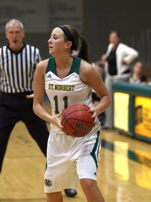 Brianna Byrne is one of four returning senior starters on the St. Norbert College women's basketball team's roster this season.