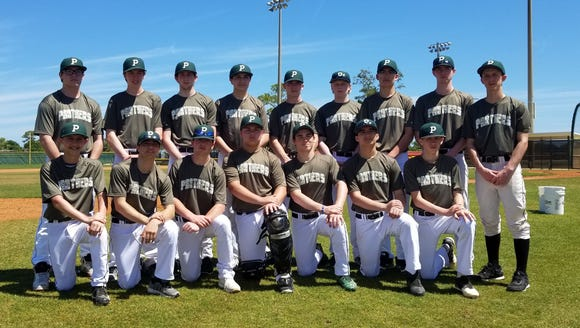 The 2018 Pleasantville Panthers baseball team.