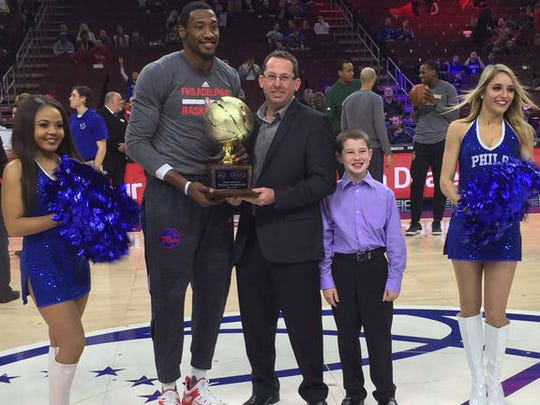 Former Tennessee State star Robert Covington was the Philadelphia 76ers Player of the Year.