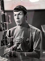 "Leonard Nimoy as Mr. Spock in the ""Star Trek"" television"
