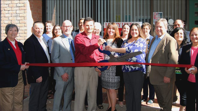 Members of the San Angelo Chamber of Commerce, the Concho Cadre and San Angelo City Councilman Harry Thomas joined Legacy Lending Home Loans San Angelo's owner, Jack Thompson, and Bill Hughs [cq], the company's vice president of sales and marketing, and local staff at a ribbon cutting at the new office, 2412 College Hills Blvd., Ste. 202 on March 30. Legacy has offices in Texas and New Mexico. Call 325-939-0926 for more information.
