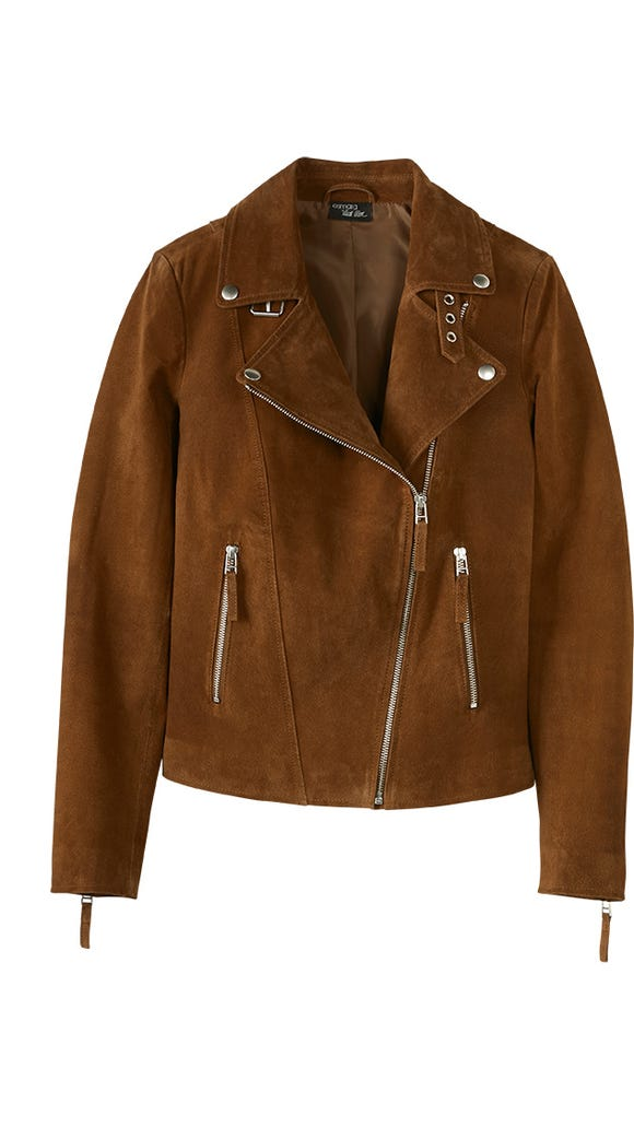 Leather jacket in cognac from Esmara by Heidi Klum