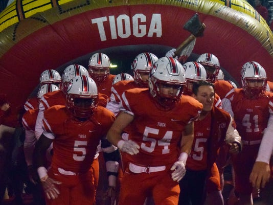 Tioga High School hosted Edna Karr High School of New Orleans in the Class 4A regionals playoff game at the Reservation. Tioga lost 49-13.