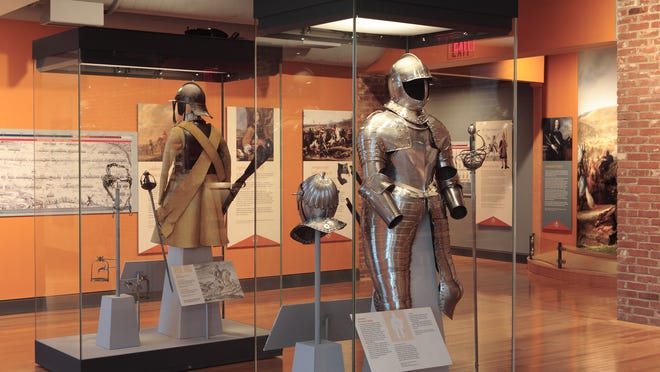 The armor exhibit will be displayed through Jan. 19