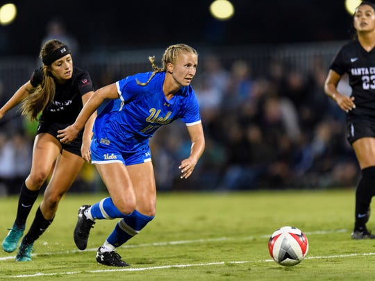 Buena High graduate Hailie Mace has taken to playing forward this season for UCLA, displaying her tremendous athleticism while leading the Pac-12 in goals with 13 and ranking second in points with 29.
