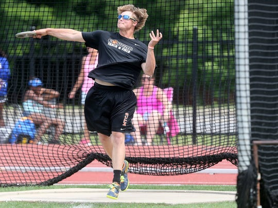 MTCS' Sam Mathis won the TSSAA Class A/AA discus event at the state meet.