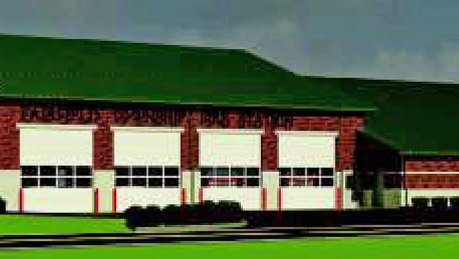 Cincinnati United Contractors were selected to build a fire station to replace Fairfield Township's Tylersville Road firehouse. This is an artist rendering of what it will look like.