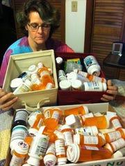In 2012, Lyme disease patient Claire Brandau is shown