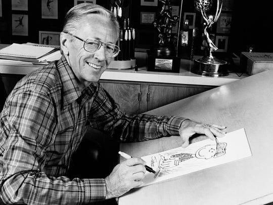 Cartoonist, Charles M. Schulz, 1978.