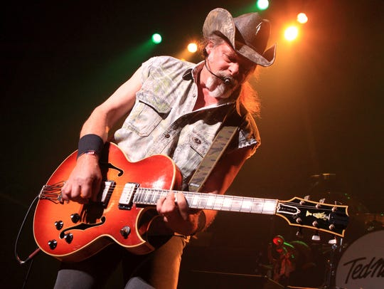 Ted Nugent performs at Celebrity Theatre in Phoenix