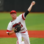 University of Louisville starting pitcher Brendan McKay delivers a pitch to Florida State during the first inning Saturday.