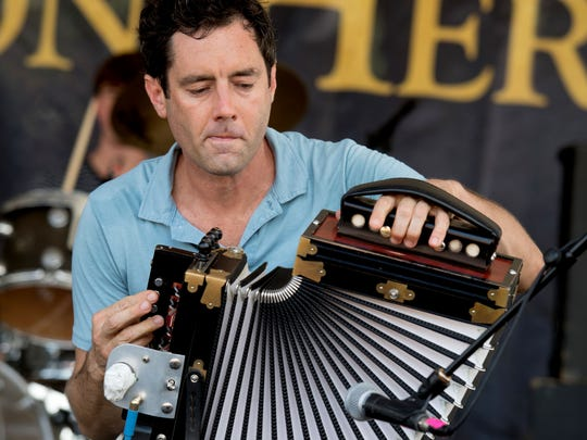 Andre Michot and the Lost Bayou Ramblers start the music Wednesday night at Festival International de Louisiane.
