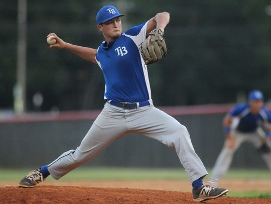 Post 13 pitcher Brad Lord, a recent Wakulla grad and