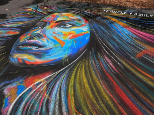 The Kayenta Street Painting Festival in Ivins City was a flurry of color over the weekend.