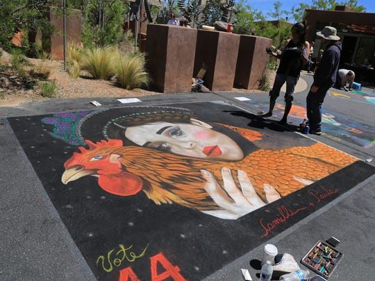 An eclectic variety of art filled the streets of Kayenta's Coyote Gulch Art Village last weekend during the Kayenta Street Painting Festival.