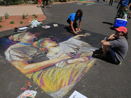 The Kayenta Street Painting Festival featured a variety of art from both professionals and students.
