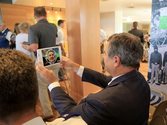 St. George Mayor Jon Pike takes a selfie Thursday on