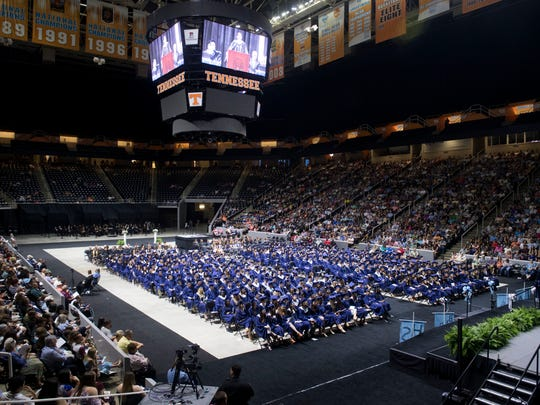 Hardin Valley Academy's class of 2018 graduation ceremonies at Thompson-Boling Arena on Wednesday, May 16, 2018