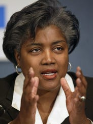 Democratic Party strategist Donna Brazile speaks during