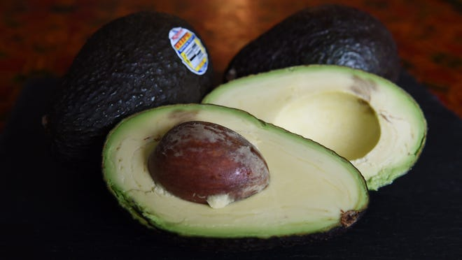 (FILES) This January 22, 2015 file photo shows Hass avocados in Los Angeles, California.