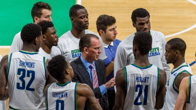 FGCU coach Joe Dooley and the Eagles look to run their winning streak to seven straight tonight against very familiar foe Georgia Southern at home.