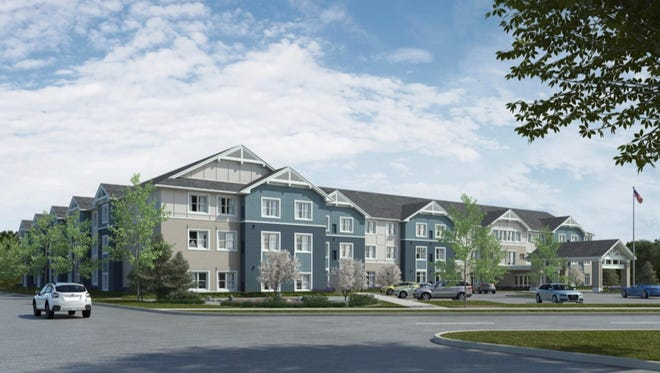 An artistic rendering of Silver Birch of Evansville, an 119-unit assisted living senior housing complex that is expected to open near the end of 2018.