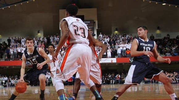 Spring Valley defeated Byram Hills 75-41 during the