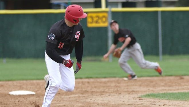 SPASH's Gus Turner-Zick, left, was a first team all-state selection by the Wisconsin Basebal Coaches Association