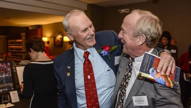 Bill Kock and U.S. Senator Rodney Frelinghuysen at the 2014 Great Swamp Gala. This year's event is Thursday evening, October 12, 2017.