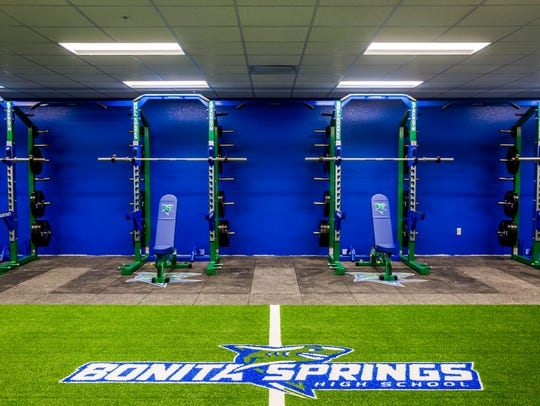 The weight room at the newly constructed Bonita Springs