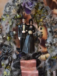 This cake topper adorned Jacki Krumnow's wedding cake