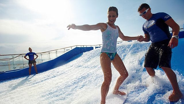 FlowRider surf simulators can be found on Royal Caribbean's Freedom- and Oasis-class ships.