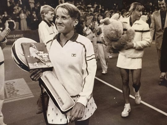 Tracy Austin battled against Martina Navratilova and