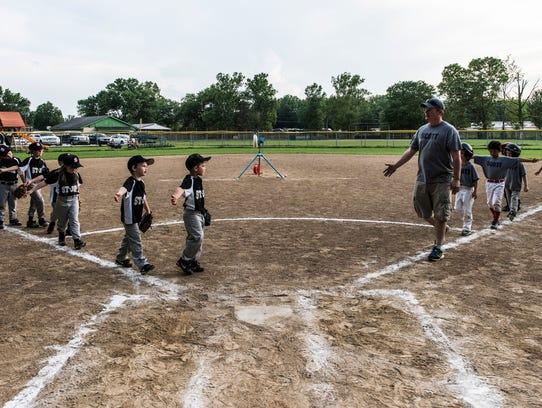 The St. Joe (left) and Scott (right) little league