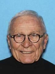 """This image provided by the Pennsylvania State Police shows Edwin Kosik. The U.S. Marshals Service is looking for Kosik, a 91-year-old federal judge who has been reported missing from his Pennsylvania home. Kosik disappeared from his home near Scranton around 1:30 a.m. Wednesday, March 29, 2017. The Marshals Service says he's driving a gray 2015 Acura with driver's side damage and may be """"at special risk of harm or injury."""" (Pennsylvania State Police via AP)"""