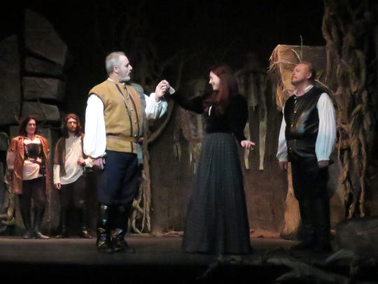 Lady Macbeth, played by Jessi May Stevenson, and the
